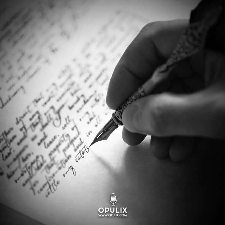 La mano que escribe la carta