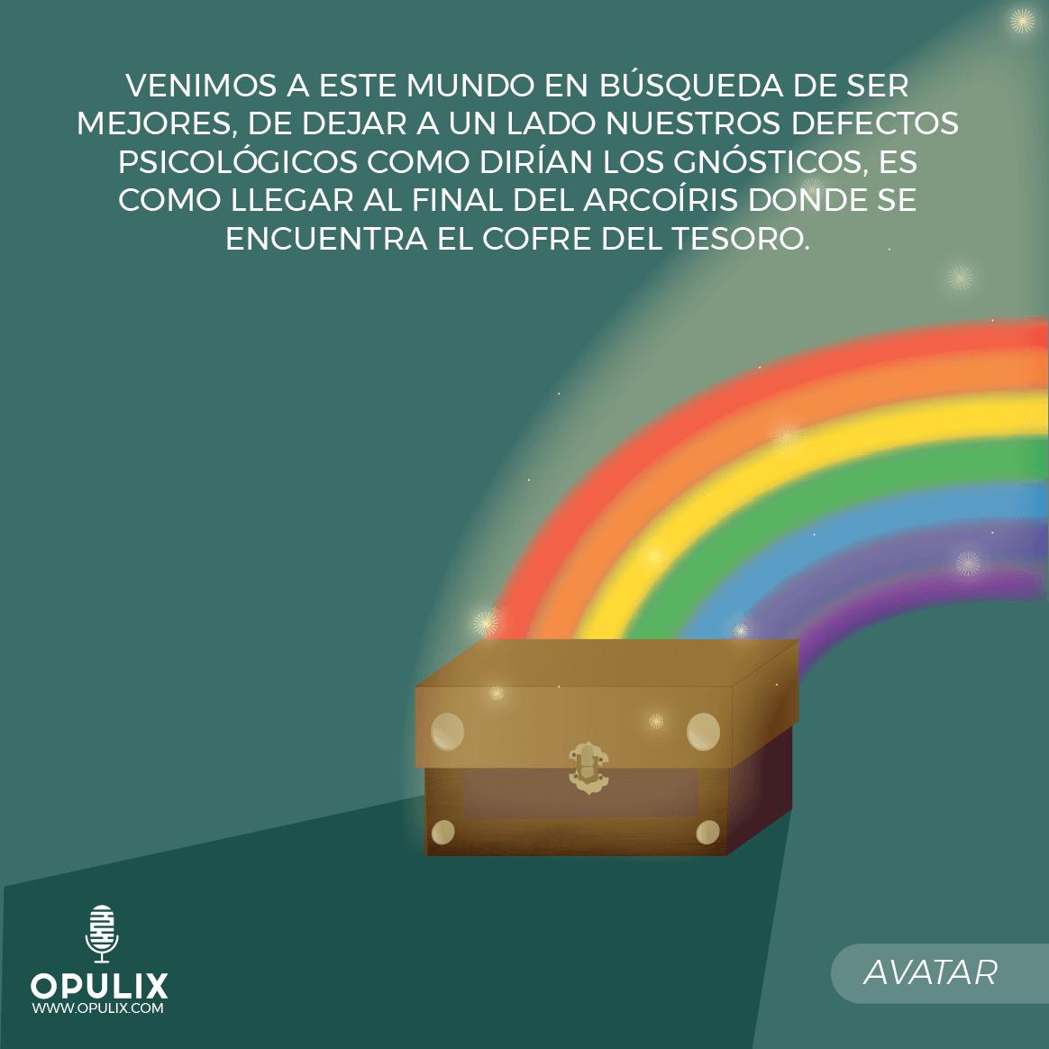 Llegar al final del arcoíris donde se encuentra el cofre del tesoro