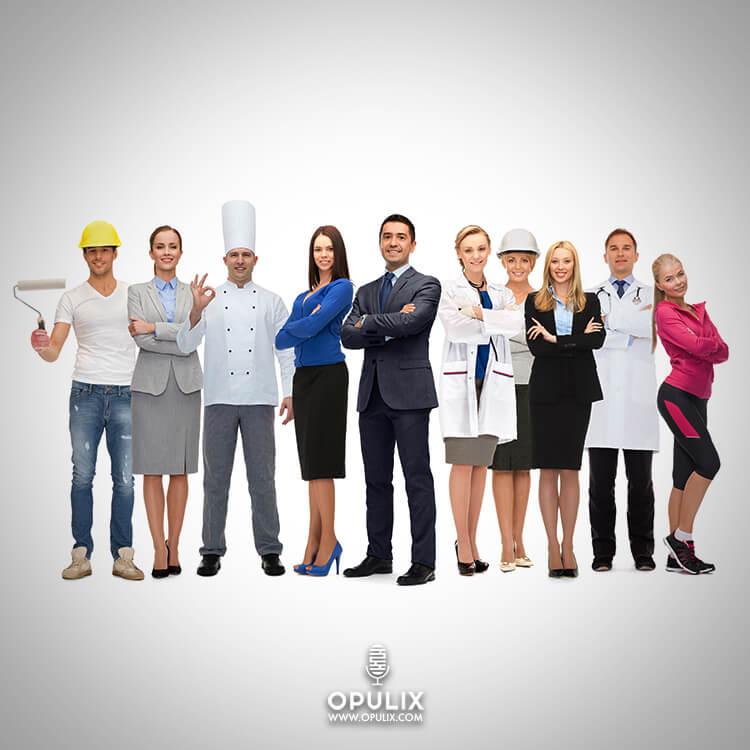 Los salarios de distintas profesiones